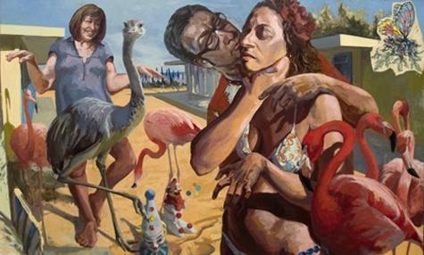 "Teresa Dunn. Introducing my other half, 2010, oil on linen, 40""x66"""